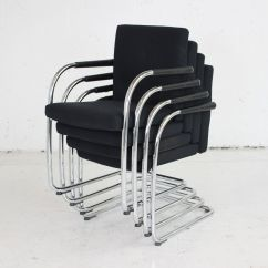 Folding Chair Uk Living Room Vitra Visasoft Black Fabric Meeting Chairs | Cantilever